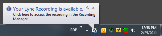 You can pause or stop the recording at any time using the icons on the bottom right of the meeting window, as shown in Figure 30.