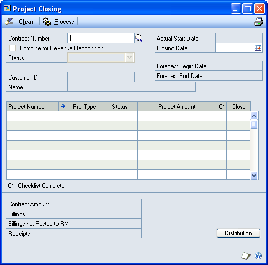 PART 4 COST CONTROL 3. Enter a contract ID. 4. Select Closed to Project Costs. 5. Click Save and close the window.
