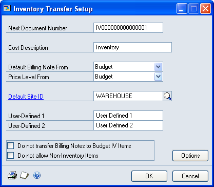 Chapter 25: Inventory transfers This part of the documentation includes information for project managers about how to set up and enter inventory transfers for tracking project costs and billing