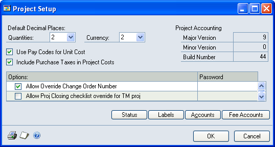 Chapter 7: General cost management setup This part of the documentation includes information for project managers about how to configure general settings for managing project costs.