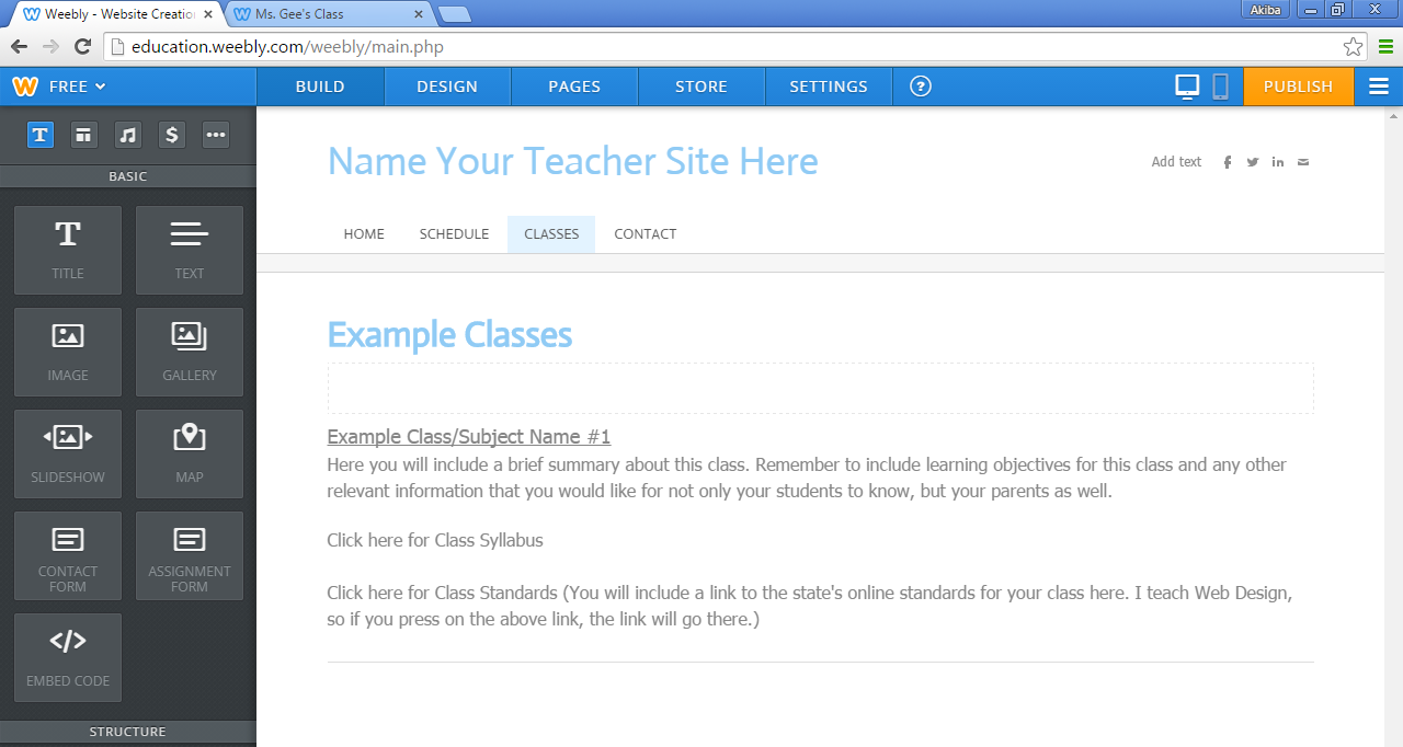29. Create your schedule. Once you re done, click on the Classes Page. 30.