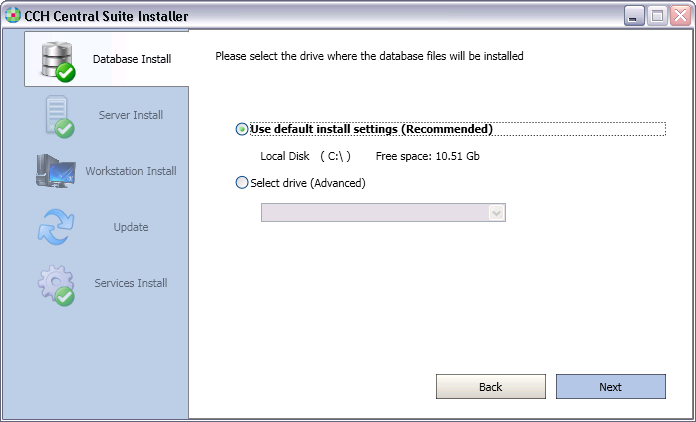 Note: The next two steps will be skipped if you already have SQL Server 2008 R2 installed. Go to Step 1.