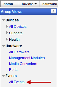 Groups Views Managed devices must be configured to send events (traps) to PerleVIEW.