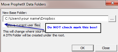 Setting Up Your Alternate Computer Make sure ProphetX is turned off. Install the file synch program. This will create the file synch folder on your computer as shown previously.