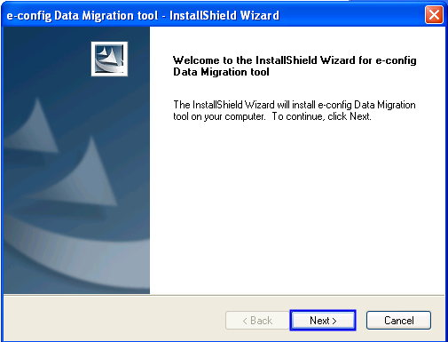 4. Data Migration Setup The following instructions describe the steps necessary to install the data migration tool. 4.1 Installing econfigdmsetuptool Download econfigdmsetuptool.exe from http://www.
