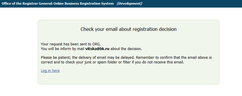 Figure 7. Verification text Figure 8. Complete registration window 2.4 RESET E-SIGNATURE If you forgot your e-signature, use this function to disable your old e-signature and request for a new.