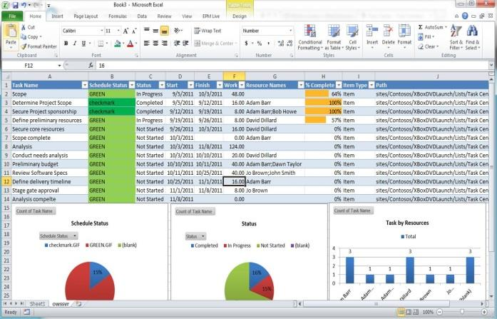 with SharePoint SSRS Excel Other Standardized project metrics