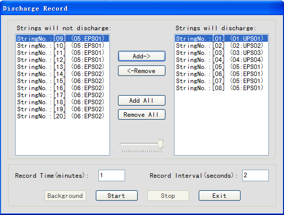 After setting, click Start Record to record data to database. The software does not control the discharge. Click Background will hide the window and you can do other operation with Analyzer.