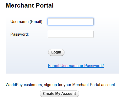 Creating your Merchant Portal Login 1. Before using WorldPay Mobile, you will need to create a Merchant Portal account by going to Portal.WorldPay.us and clicking Create My Account.