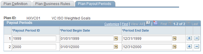 Chapter 4 Setting Up Variable Compensation Plans Payroll Status Select the payroll status values that cause a worker to be ineligible under the plan.