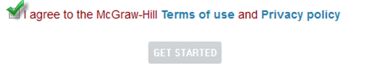 When you click on the McGraw-Hill Campus link for the first time, you will be prompted to agree to the Terms