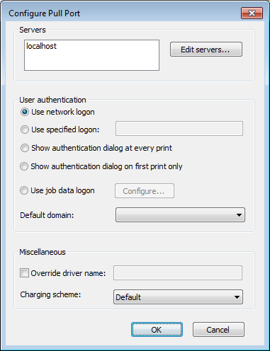 2.4 Add a SafeCom Pull Printer 1. Click Start, Settings and Printers. 2. Double-click Add Printer. The Add Printer Wizard appears. 3. On Windows 2008: Click Add a local printer.