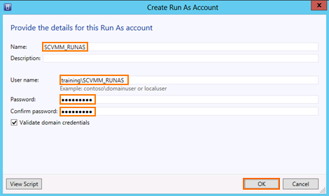 10. Expand Security and click Run As Accounts. Click the button Create Run As Account. 11.