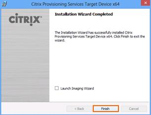 18. Uncheck Launch Imaging Wizard and click Finish. 19. Click No to not restart now.