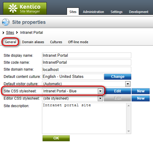 96 Kentico CMS 7.0 Intranet Administrator's Guide 8 Customizing the portal 8.