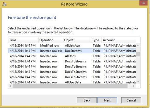 Explorer for SQL New precise recovery of SQL databases - Built-in agentless transaction log backup for low RPO SQL protection.