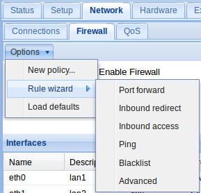 Figure 4: Firewall rule wizard. Figure 5: Inbound Access rule configuration. In Figure 5, only the required fields have been populated.