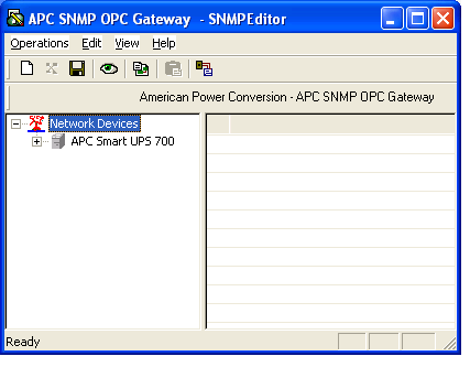 4. After searches the network, the Discovered Devices dialog box displays a list of both SNMP-manageable and currently unmanaged devices.