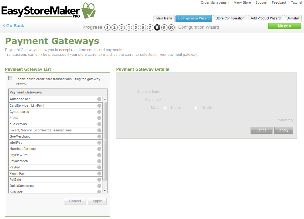 Page 11 f 41 EastStreMaker Pr 4.4 14. Payment Gateways allw yu t accept real-time credit card payments.