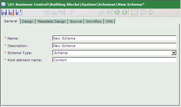 "Content Management Implementation Guide 5.3 Template Building Blocks For examples of how metadata values can be used in the Content Manager, refer to Chapter 11 ""Metadata"" on page 137. 9.5.a Creating a Metadata Schema Create a Metadata Schema to define a set of fields that can capture metadata values."