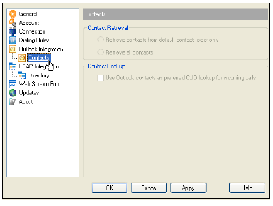 Check the box that reads Use Outlook contacts as preferred CLID look up for incoming call.