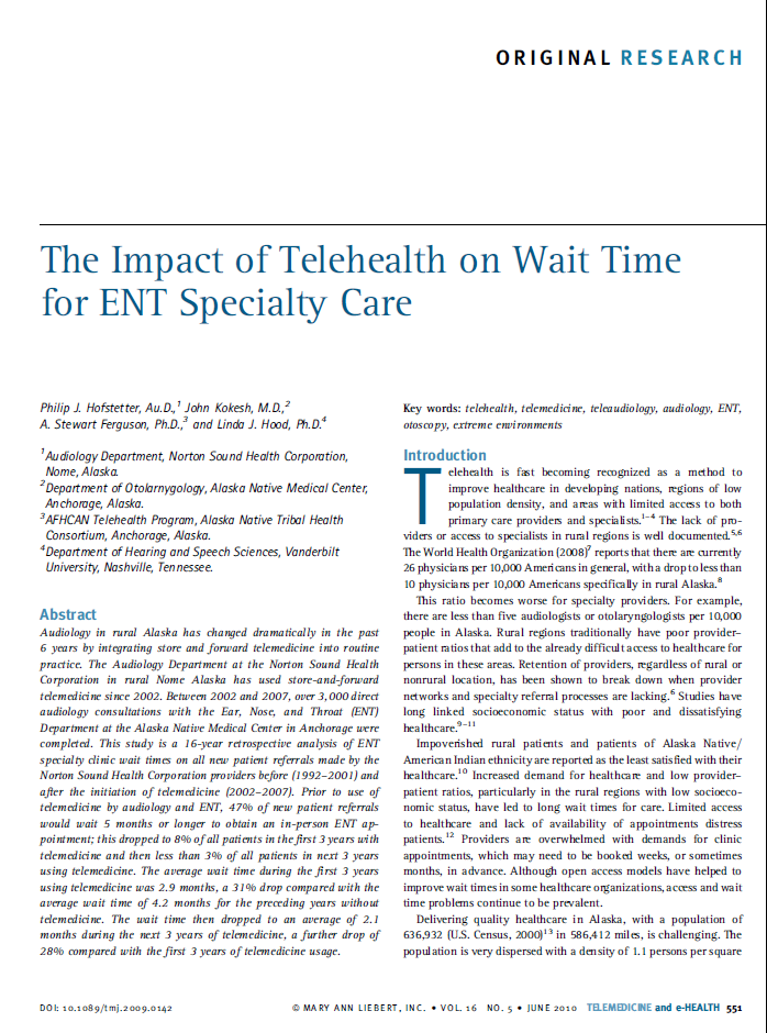 Percent Appointment Availability With 5 Month or Longer Wait Time Telehealth Impact on Extended Waiting Times (> 4 months) 50% 45% 47% 40% 35% 30% 25%