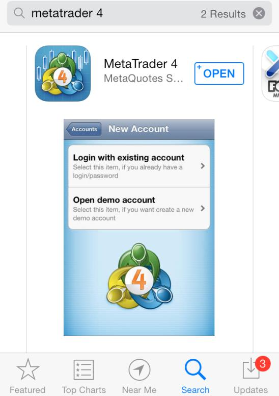 . Download Download and Installation Go to the App Store on your ios device and search for MetaTrader or MT to download MetaQuotes MetaTrader app