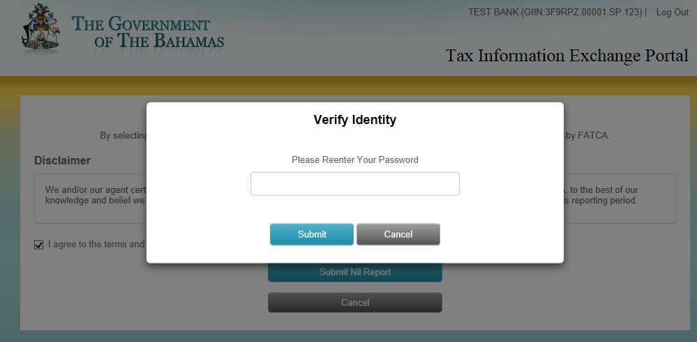 29 3. Users will need to enter their password to verify their identity before the Nil Report submission can be completed.