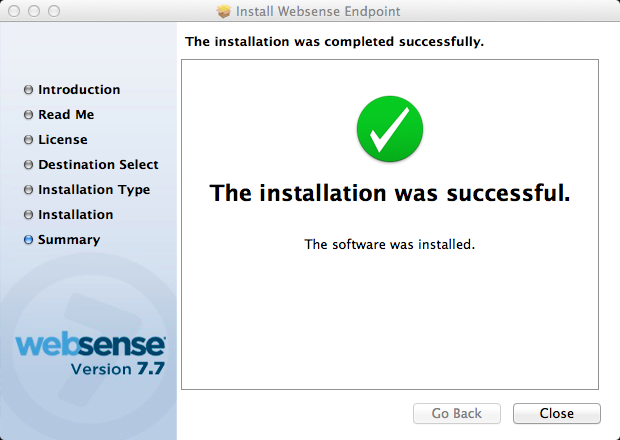 The installation will now proceed. If the installation fails here, it is usually because the HWSconfig.
