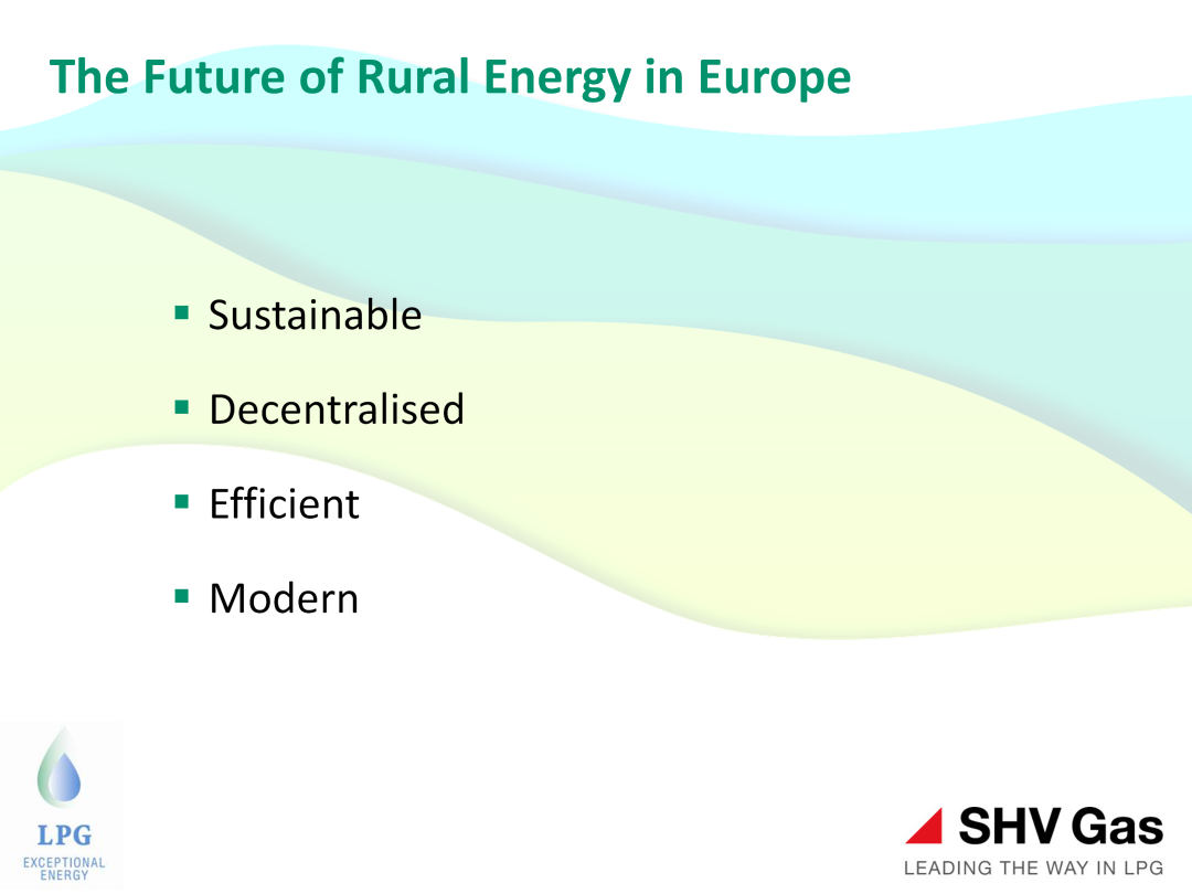 The future for rural energy is based on the following four principles: Sustainable Sustainable does mean very low carbon but it also means secure, affordable and deliverable.