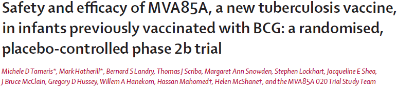 The primary study outcome was safety (incidence of adverse and serious adverse events) in all vaccinated participants Primary efficacy