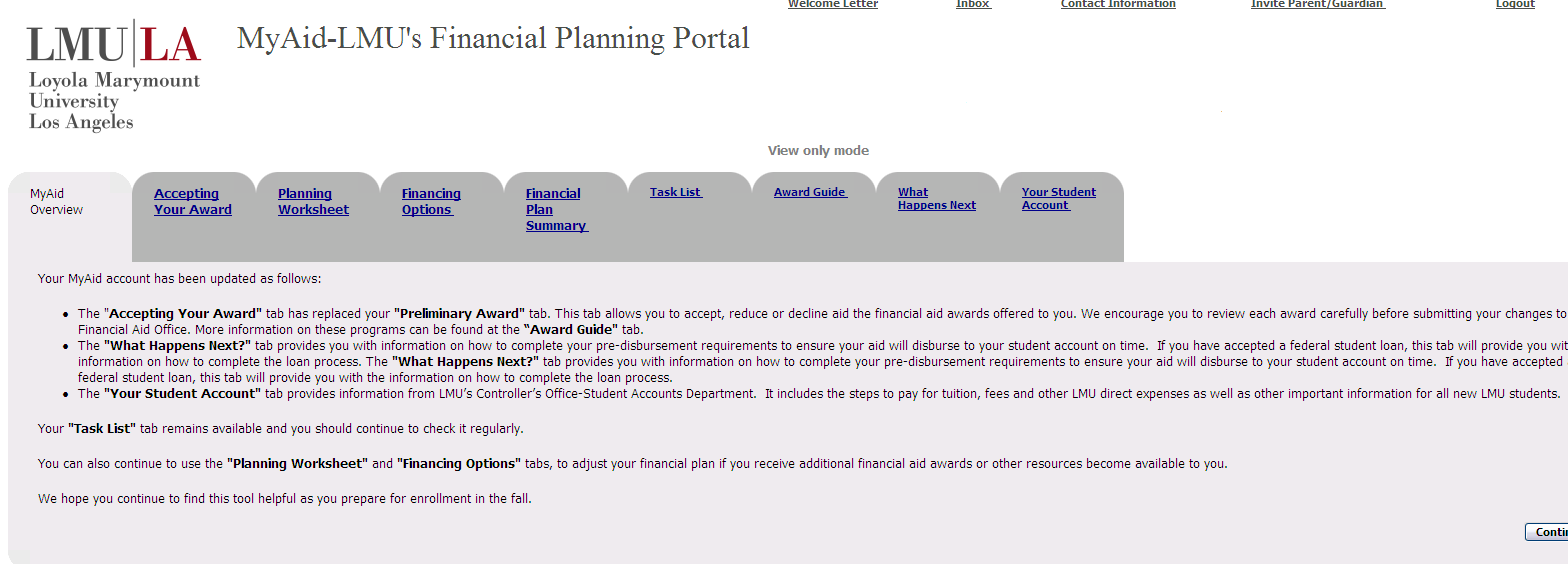 MyAid Web Based Self Service Financial Aid & Planning Tool Available November, 2011 Documents needed and