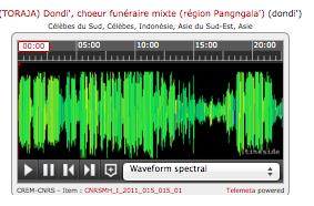 ie ie Folk Songs and Waveform Spectral Organisation du catalogue Le catalogue est organisé en 4 niveaux : Fonds, Corpus, Collection et Items. Le niveau principal de description est la Collection.