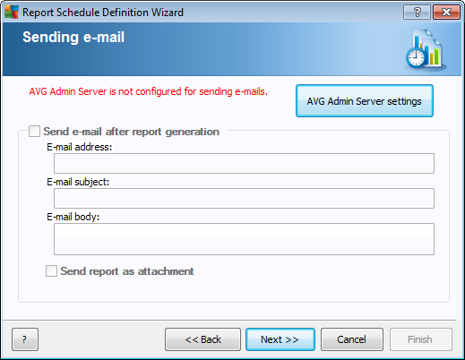 In this dialog, choose whether you want to generate the report only once in the selected time, or to generate the report periodically: Generate once at a specific time - choose the exact time