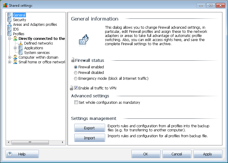 10.2.1. Setting Items as Mandatory You can set the whole configuration as mandatory by checking the Set whole configuration as mandatory checkbox available in the General information dialog.