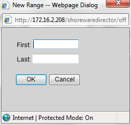 Figure 22 Off System Extension Ranges Click New to get the New Range dialog as shown in Figure 23.