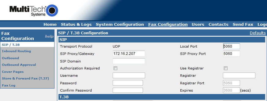 FaxFinder IP Configuration Configuration details for the FaxFinder IP can be found in the FaxFinder IP Administrator Guide. Please visit www.multitech.com to find FaxFinder IP documentation.