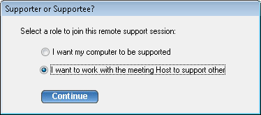 5.3. Providing Multi-Tier Support To join a meeting as a joint-supporter, you need a user account in the TurboMeeting system and follow the steps below. 1.