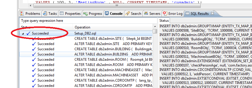 1.27 1.28 Open the context menu anywhere in the SQL file and select Run SQL 1.29 The statements in the SQL file will be executed to configure the MDM database.