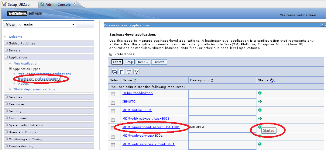 2.2 When the WebSphere Integrated Solutions Console appears, enter the WAS user id and password and click Login.