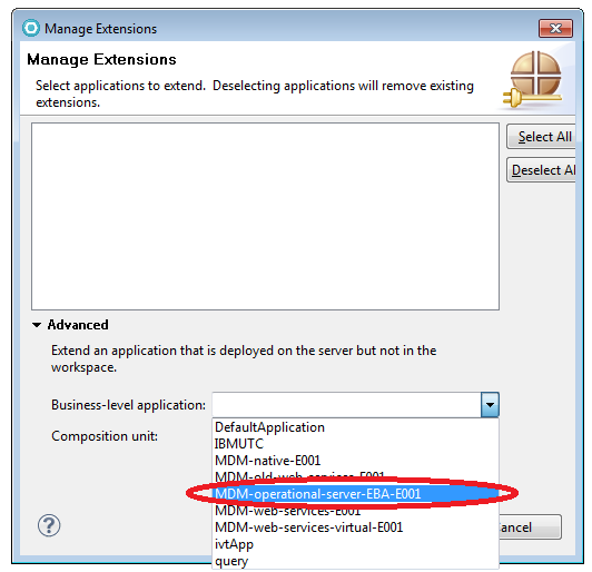 1.9 Click the Get information from server button to retrieve information about existing deployed applications. 1.