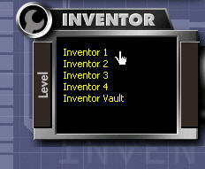 Programming takes place by dragging icons from a number of function panels and dropping them into the programming window. Each Inventor Level offers an increasing number of programming options.