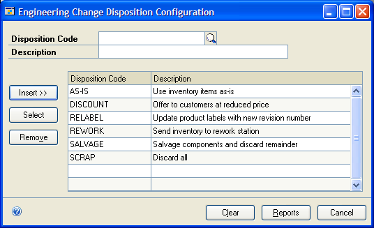 PART 2 ENGINEERING CHANGE MANAGEMENT Deleting an ECM denial code Use the Denial Codes Definition window to delete denial codes. To delete an ECM denial code: 1.