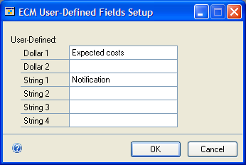 PART 2 ENGINEERING CHANGE MANAGEMENT Creating ECM user-defined fields When change requests are being considered, you might want to include additional information with the request.