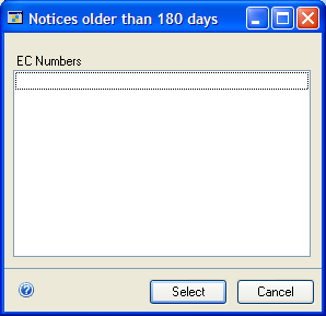 CHAPTER 10 ENGINEERING CHANGE INQUIRIES Number of Engineering Changes If you click on the value for the Number of Engineering Changes, the ECM Notices & Requests window will open, where you can view
