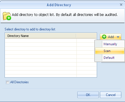 Add Directory 6. Select Directory and click Add, the add directory window opens. 7.