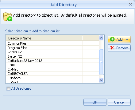 10. The software will enumerate all the selected directories.