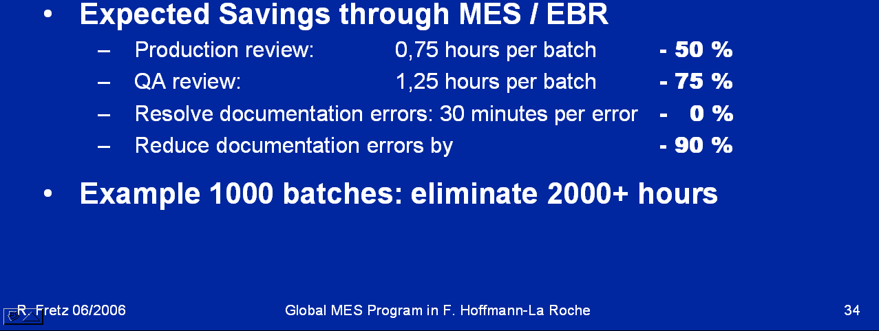 Roche: Implementing a Global MES- Program,