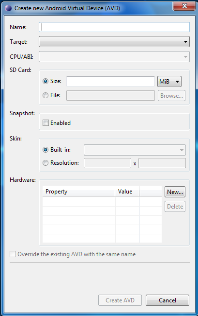 4.5 Adding SDK Components. 1. Click on Window->Android SDK Manager. 2. This will allow you to choose the Android platform versions, add-ons tools and other components.
