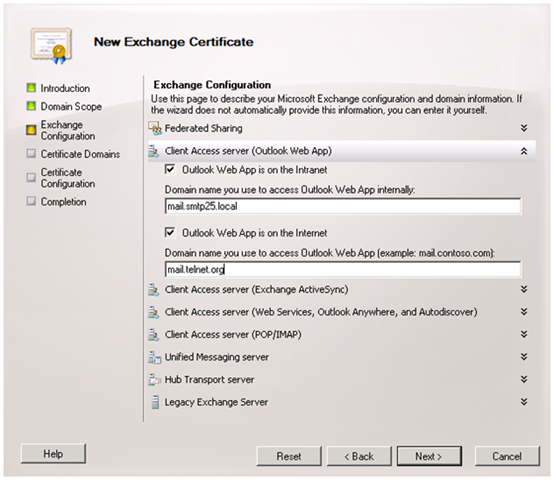 Figure 3.5: Don t enable wildcard certificate. Next, as Figure 3.6 shows, fill out the certificate information.